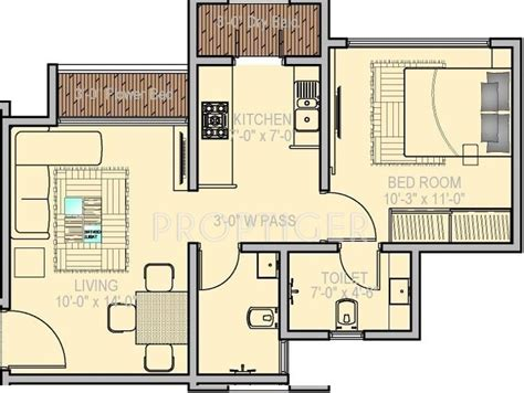 747 floor plan 747 sq ft 1 bhk 1t apartment for sale in ravi group gaurav