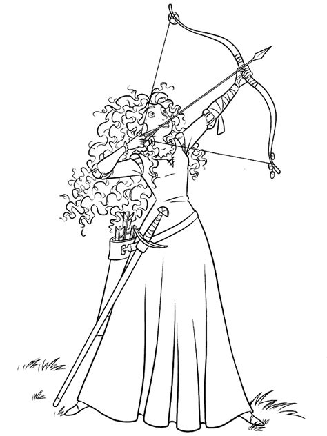 girl bow coloring page m 229 larbilder f 246 r barn merida
