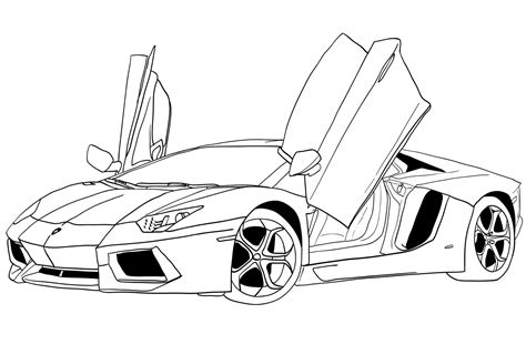 different cars coloring pages lamborghini coloring pages 01