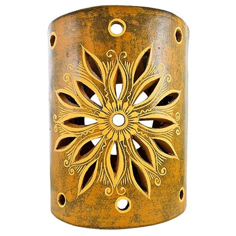 Ceramic Wall Sconce Ceramica Blanca Collection Clay Wall Sconce Ccbs004