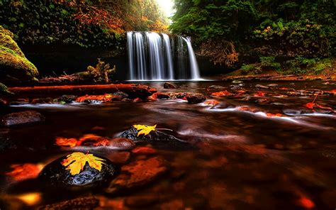 Cool Car Wallpapers For Desktop 3d Fall Wallpaper by Wallpaper Collections Autumn Waterfalls