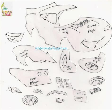 moldes carros en fieltro rayo macqueen de cars molde manualidades en goma eva y