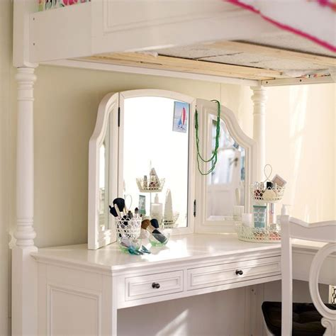 loft bed with a desk and vanity pottery barn loft bed with desk woodworking