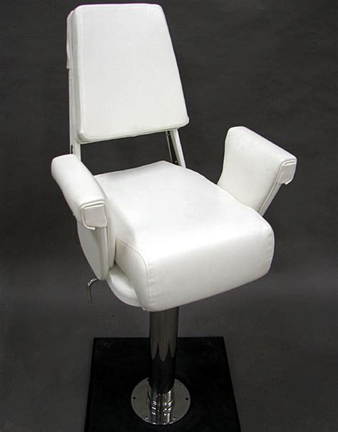 nautical design helm chair white polymer helm chair cushion package
