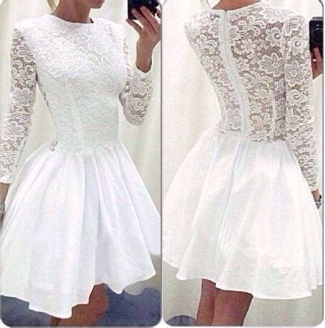 long sleeves homecoming dressessimple lace short prom