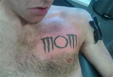 monster energy tattoo a of the word in the energy drink font