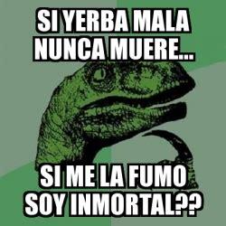 Memes Generator En Espaã Ol - meme filosoraptor si yerba mala nunca muere si me la