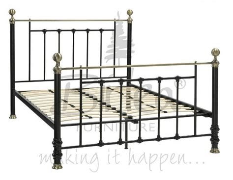 Metal Frame Beds Uk Birlea 4ft 6 Black Metal Bed Frame By Birlea