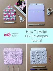 How To Make Handmade Envelopes - how to make diy envelopes tutorial hello creative family