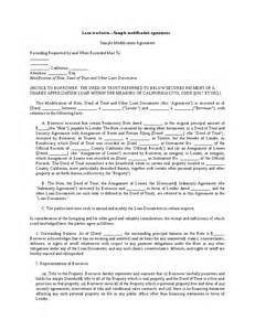 Loan Waiver Letter Template Loan Workouts Sle Modification Agreement Hashdoc