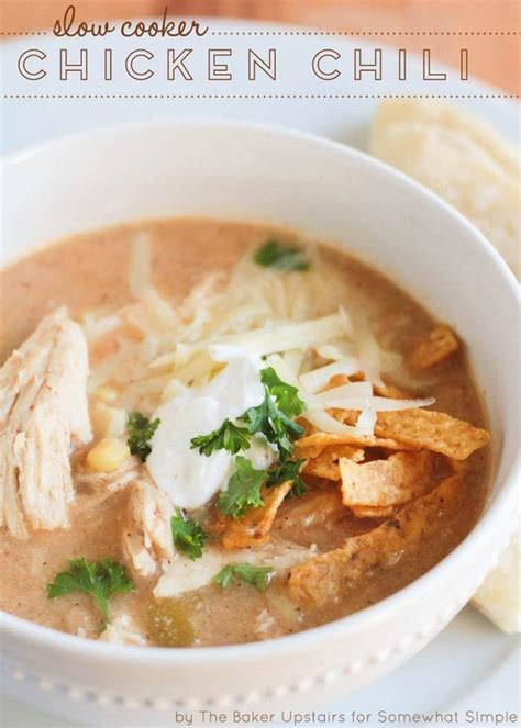 slow cooker chicken chili somewhat simple