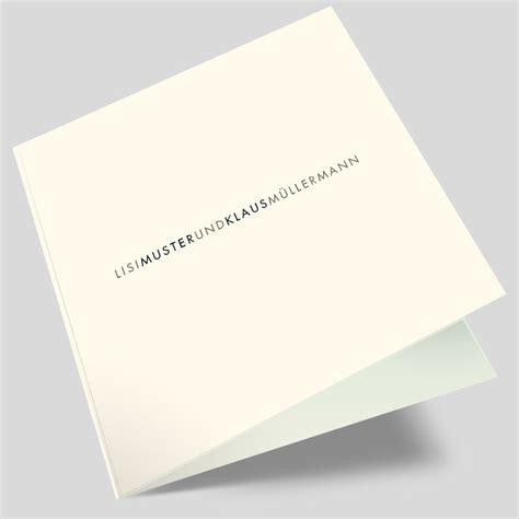Hochzeitseinladungen Schlicht Modern by Hochzeitseinladungskarte Wortgetreu