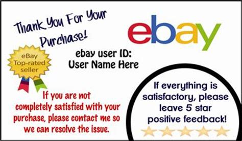 Ebay Thank You Cards