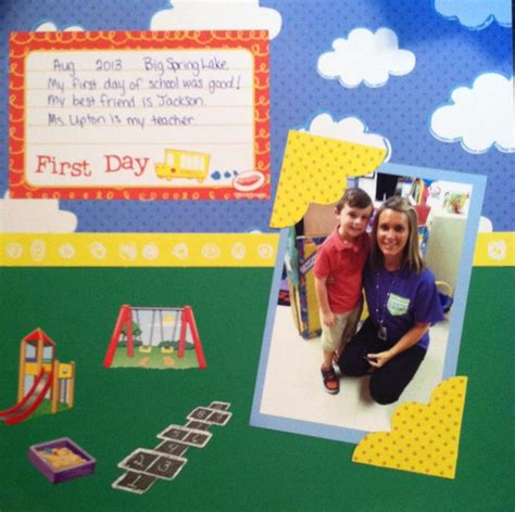 scrapbook layout first day of school first day of school scrapbook layout scrapbook pinterest