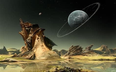 science fiction wallpaper science fiction planet landscape wallpapersafari