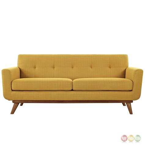 wooden loveseat engage contemporary upholstered loveseat with wooden legs