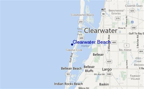 map of clearwater florida clearwater surf forecast and surf reports florida gulf usa
