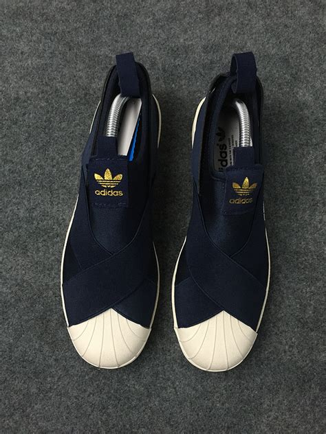 Adidas Navy Casual Slipon adidas superstar slip on navy herbusinessuk co uk