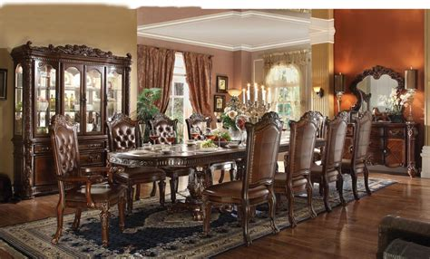 Acme Dining Room Sets by Acme Vendome 11pc Pedestal Dining Room Set In Cherry By Dining Rooms Outlet