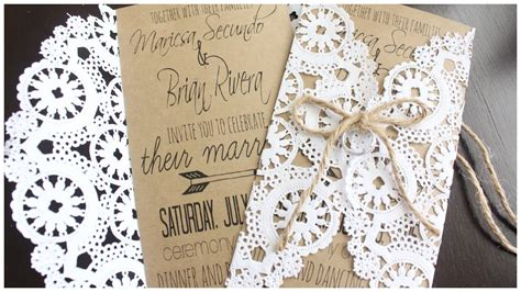 Wedding Invitations Using Doilies by Diy Rustic Doily Wedding Invitations Im Getting Married