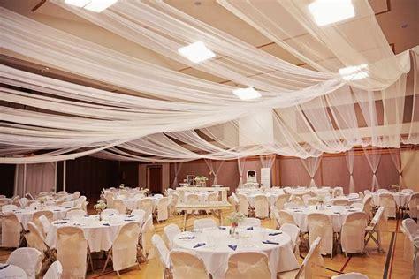 Tulle ceiling    Jared & Mandys Wedding   Pinterest