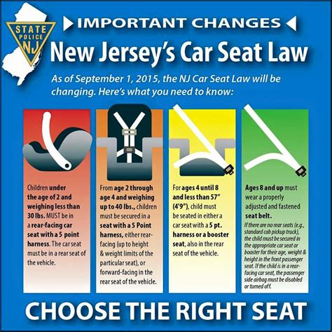 car seat requirements new car seat laws in nj berkeley heights volunteer
