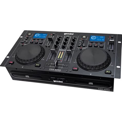 Dj Player gemini cdm 4000 cd mp3 usb dj media player cdm 4000 b h photo