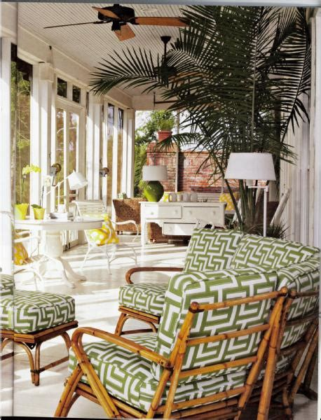 Bamboo Patio Furniture Covered Patio With Beadboard Trim Cottage Porch Coastal Living