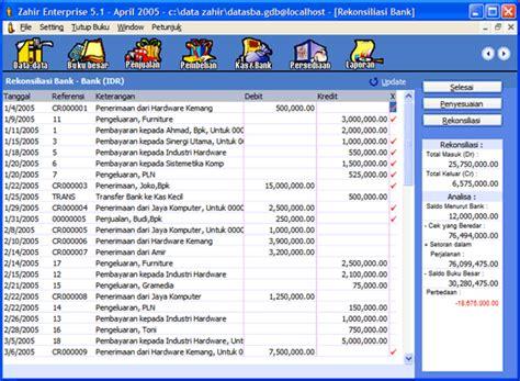 tutorial penggunaan zahir accounting rekonsiliasi bank zahir accounting software akuntansi