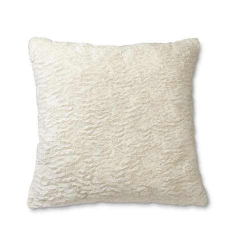 faux fur decorative pillows cannon faux fur throw pillow home bed bath bedding