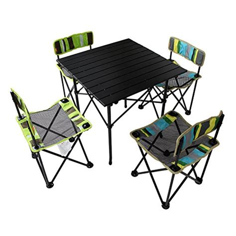 Yodo 5 in 1 foldable kids picnic table and chairs set for family outdoor camping beach party