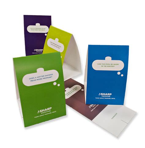 Printed Table Tents Austin Tx Table Tent Printing Table Tent Printing