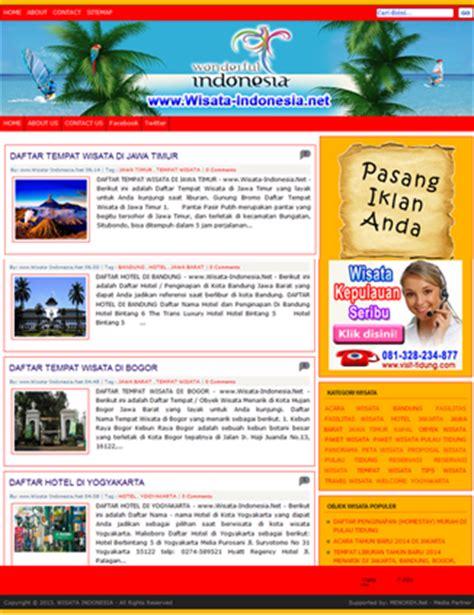 desain brosur pariwisata contoh banner wisata 16 contoh u