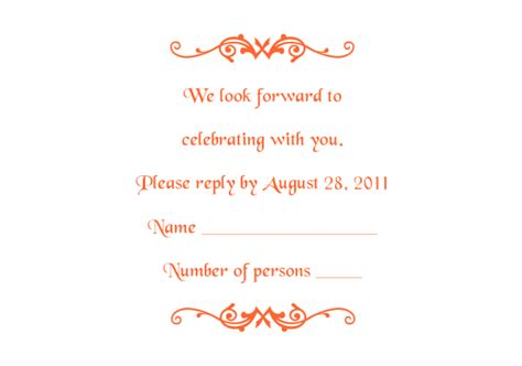 free wedding acceptance card template response card templates 1 and 2