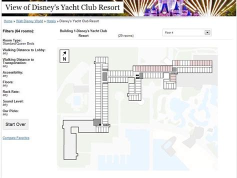Disneys Yacht Club Hotel Floor Plan - the view from every disney hotel room yacht and