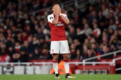 alexis sanchez europa league arsenal hoping nobody they know saw them in the europa league
