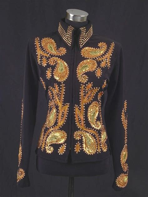 Matching Applique Jacket gorgeous black gaberdine jacket with bronze and gold