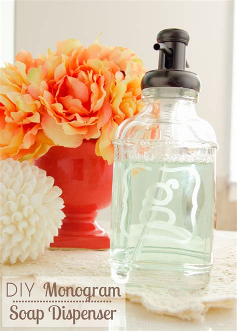 craftaholics anonymous monogram glass etched soap dispenser