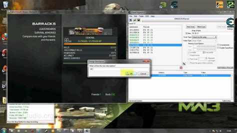 tutorial hack mw3 tutorial for cheat engine and mw3 sp rank hack youtube