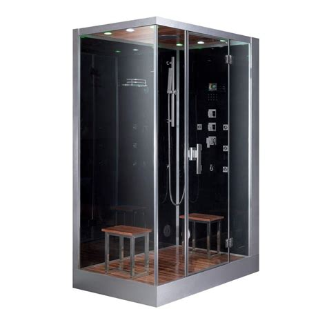 home depot steam shower ariel 59 in x 35 4 in x 89 2 in steam shower enclosure