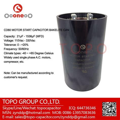 capacitor de arranque cbb60 motor el 233 ctrico 250v capacitor de arranque cd60 110v 125v 165v 220v 250v 300v 330v