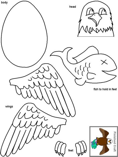 eagle template bald eagle crafts can use cut outs of for wings