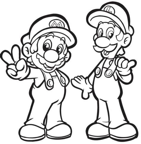 blank coloring pages mario luigi coloring pages only coloring pages