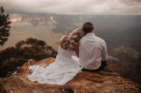 moody blue mountains elopement  sydney australia