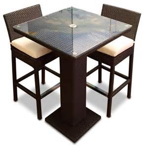 Western Dining Room Table 3 piece outdoor bar table set contemporary outdoor pub