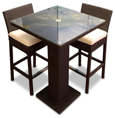 Patio Pub Tables Mangohome 3 Outdoor Bar Table Set View In Your Room Houzz