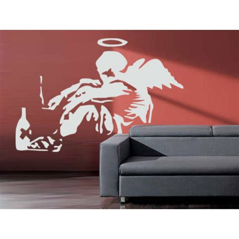 banksy wall stickers banksy fallen wall stickers wall stickers