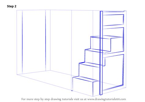 how to draw a bed step by step learn how to draw a bunk bed furniture step by step