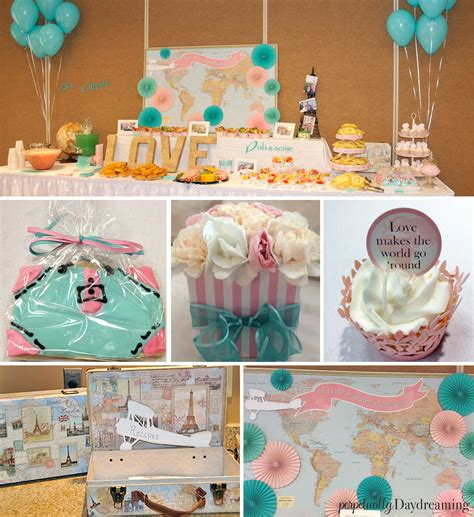 bridal shower travel theme my travel themed bridal shower perpetually daydreaming