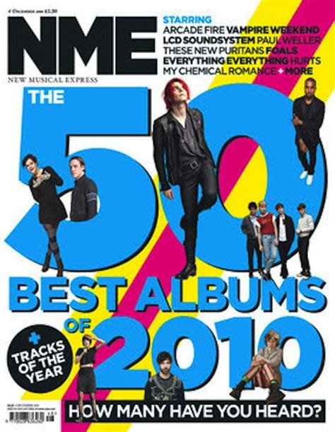 10 Best Albums Of 2010 by Nme Top 75 Albums Of 2010 Stereogum